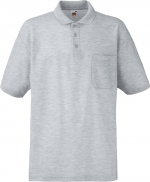 65/35 POCKET POLO heather grey